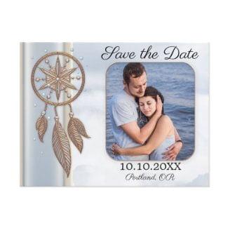 Save the Date Photo Dreamcatcher Wedding Postcard