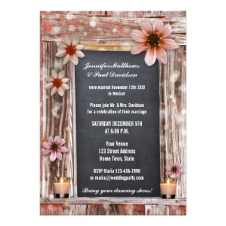 Bohemian chic winter elope or post wedding reception only invitation