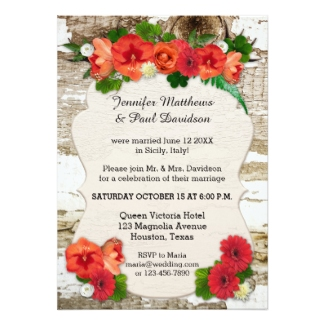 Christmas winter elope or post wedding reception only invitation