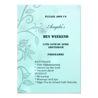 Elegant hen or bachelorette weekend invitation