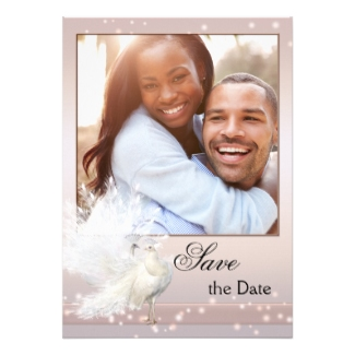 Chic blush pink photo Save the Date card