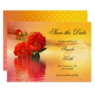 Botanical floral indian art Save the Date card