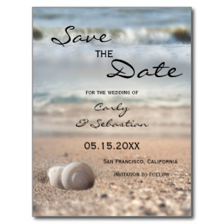 Modern dreamy beach Save the Date card