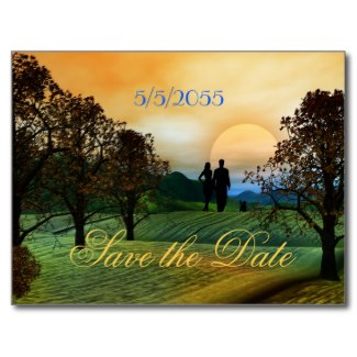 Orchard wedding Save the Date card