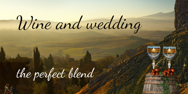 Vineyard and wine themed wedding collections