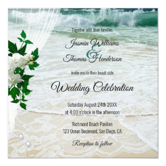 Beach Orchid Floral Destination Wedding Collection