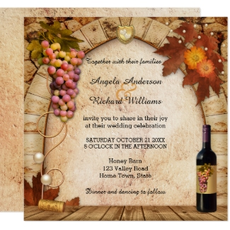 Classic Wine or Vineyard Themed Wedding Collection
