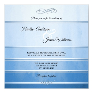 Blue Silver Striped Tone on Tone Wedding Collection