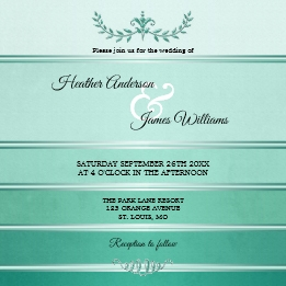 Green Silver Striped Tone on Tone Wedding Collection
