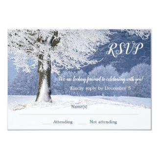 Winter Wonderland Tree RSVP Card