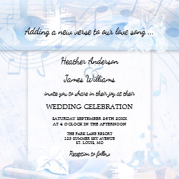 Dusty Blue Music Themed Wedding Collection
