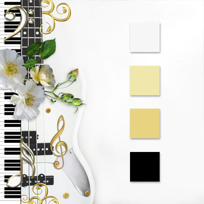 Music Themed Wedding Color Palette