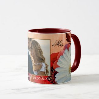 Your Photo Colorful Artistic Autumn Floral Mug