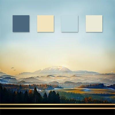 Mountain wedding color palette