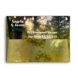 Artistic Enchanted Forest Themed Wedding Envelope