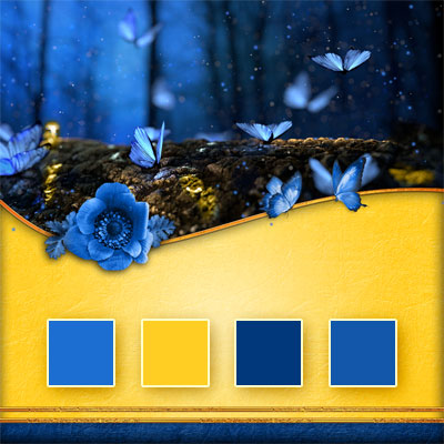 Butterfly Night Wedding Color Palette