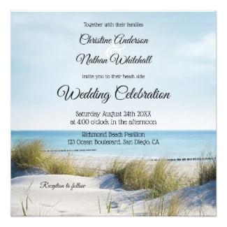 Coastal Beach and Dunes Wedding Collection