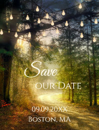 Enchanted Forest Save the Date Postcard
