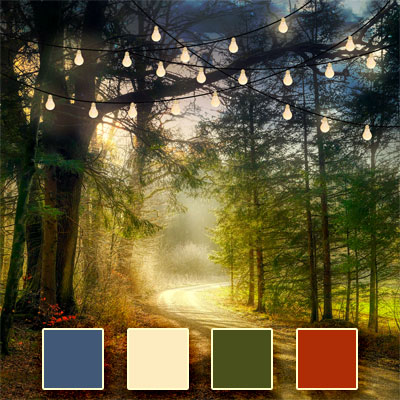 Enchanted Forest Wedding Color Palette