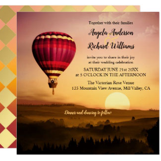 Hot Air Balloon Sunset Wedding Collection