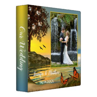 Personalized butterfly love photo binder