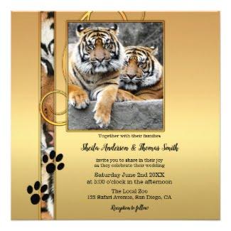 Tiger Safari or Zoo Wedding Collection