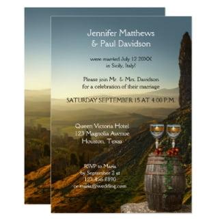 Winery Wedding Reception Only Invitation