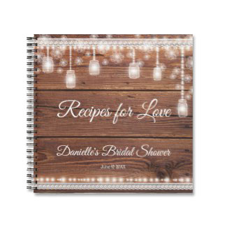 Recipes for love bridal notebook