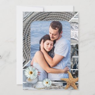 Your photo nautical save the date card