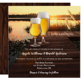 Romantic sunset beer wedding collection