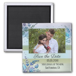 personalized photo save the date magnet
