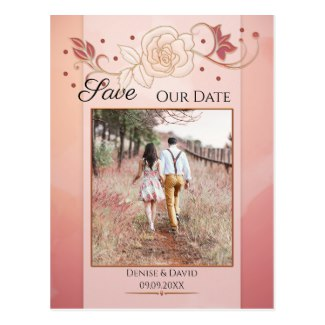 Rose gold watercolor wedding collection