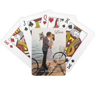 Your photo love wedding playing cards - gifts and favors